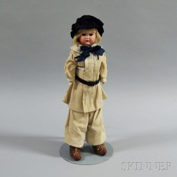 Armand Marseille Bisque Shoulder Head Character Boy Doll