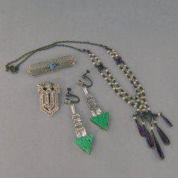 Small Group of Art Deco Jewelry