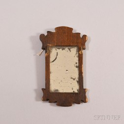 Miniature Chippendale-style Scroll-frame Mirror