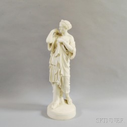 Parian Figure of a Classical Maiden