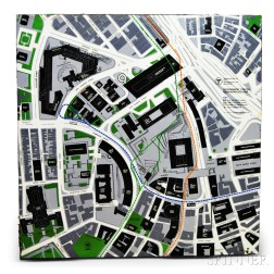 MBTA Enameled Government Center Neighborhood Map