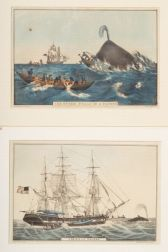 "Nathaniel Currier, publisher (American, 1813-1888)    Lot of Two:  The Sperm Whale ""In a Flurry."