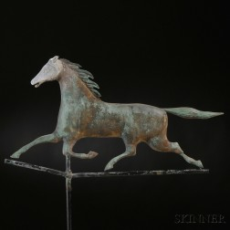 Copper and Zinc Running Horse Weathervane