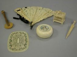 Group of Small Carved Ivory Items