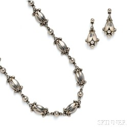 Suite of Sterling Silver Jewelry, Georg Jensen
