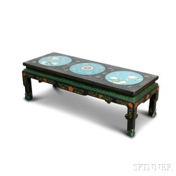 Cloisonne and Lacquer Table