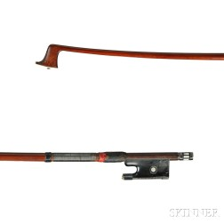German Nickel Silver-mounted Violin Bow