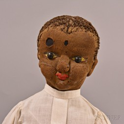 American Black Stockinette Missionary Rag Doll