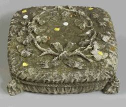 Carved Stone Pillow-form Garden Figure