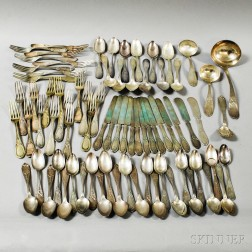 Group of Coin Silver and Silver-plated Flatware