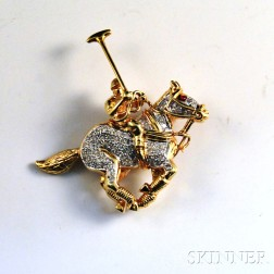 18kt Gold and Diamond Figural Brooch