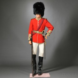 British Grenadier Mannequin with Sword and Rifle