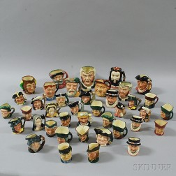 Forty Doulton Face Jugs