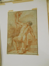 Five Unframed Old Master Drawings Attributed to Giovanni da san Giovanni, Giovanni Mannozzi (Florentine, 1592-1636), Falling Male Nud