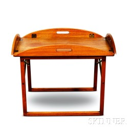Sveng Langkilde Danish Modern Teak and Brass Butler's Tray Table