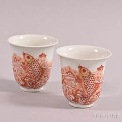 Pair of Iron Red Cups