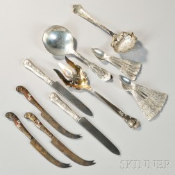 Twenty Pieces of Assorted American Sterling Silver Flatware
