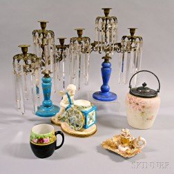 Six Glass and Porcelain Items
