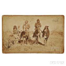 C.S. Fly Cabinet Card of Geronimo and Naiches Mounted, March 27, 1886