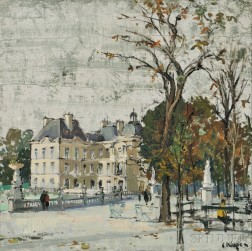 Constantine Kluge (French, 1912-2003)      Jardin du Luxembourg