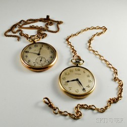 Two Longines Open-face Pocket Watches