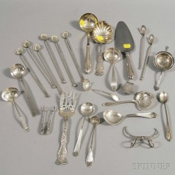 Small Group of Assorted Sterling Silver Flatware and Serving Items