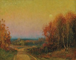 Frederick Mortimer Lamb (American, 1861-1936)      Autumn View at Dusk