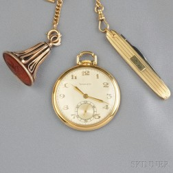 18kt Gold Open Face Pocket Watch, Tiffany & Co.