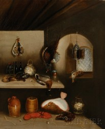 Benjamin Blake  (British, 1757-1830)      Still Life with Fish and Game in a Larder