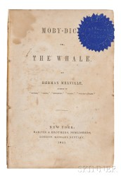 Melville, Herman (1819-1891) Moby Dick.