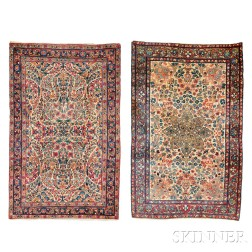 Two Kerman Small Rugs