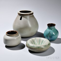 Rupert Deese (1924-2010) Four Pieces of Art Pottery