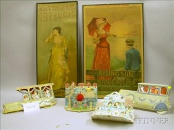 Seven Chromolithograph Posters and Four Die-cut Valentines