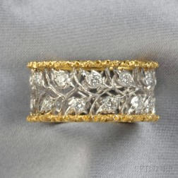 18kt Gold and Diamond Band, Buccellati