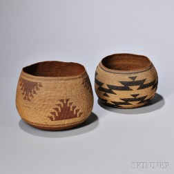 Two California Twined Baskets