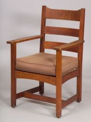 Stickley & Brandt Oak Armchair.