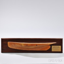 Carved Laminated Half-hull Model of the Royal Yacht Squadron-Schooner Tatania