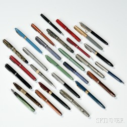 Collection of Esterbrook and Various Other Makers Pens and Pencils