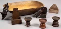 Nine Early Wooden Items