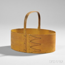 Shaker Yellow-stained Pine and Maple Oval Carrier