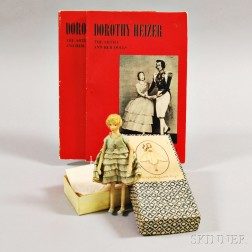 Small Dorothy Heizer Doll, Original Box, and Two Books
