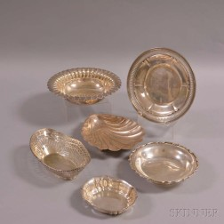 Six Pieces of Sterling Silver Hollowware