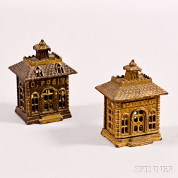 Two Cast Iron Bank-form Still Banks