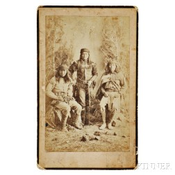 """Photograph of """"Peaches"""" and Two Other Apache Scouts"""