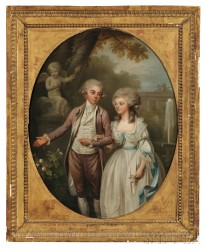French School, 18th/19th Century      Cupid's Secret/Courting Couple in a Garden