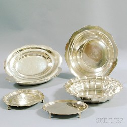 Six Assorted Sterling Silver Dishes and Serving Pieces