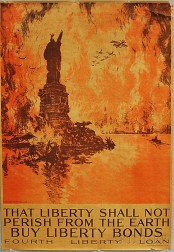 Joseph Pennell That Liberty Shall Not Perish From the Earth   WWI Lithograph   Poster