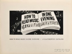 Sultan, Larry (1946-2009) and Mike Mandel (b. 1950) How to Read Music in One Evening  , Signed Copy.