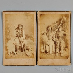 Two Photographs of Apache Indians