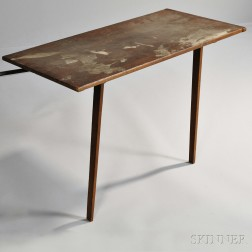 Shaker Red-stained Pine Hanging Table
